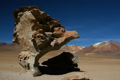 Salvador Dali. The Dali Rock, Arbol de Piedra at the Dali desert altiplano Bolivia stock photos