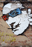 Salvador Dali. City art graffiti with portrait of Salvador Dali Royalty Free Stock Photography