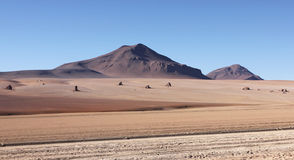 Salvador Dali desert. Desert on bolivian altiplano where Salvador Dali painted his pictures royalty free stock photography