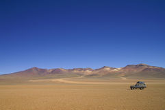 Salvador Dali Desert. In southern Bolivia (part of Atacama Desert stock image