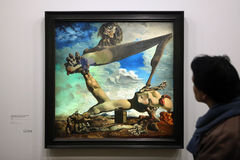 Salvador Dali exhibition in the Pompidou Centre, Paris. Stock Photography