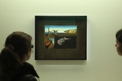Salvador Dali exhibition in the Pompidou Centre, Paris. Stock Images