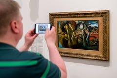 Salvador Dali målningmetamorfos av pingstliljan Fotografering för Bildbyråer