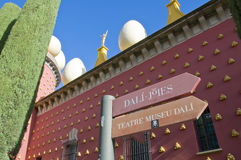 Salvador Dali museum. Outside of Salvador Dali's museum, Figueres, Spain Royalty Free Stock Image