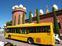 Salvador Dali museum and bus Royalty Free Stock Photography
