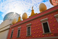 Salvador Dali museum in Figueres of Catalonia Royalty Free Stock Photo