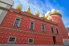 Salvador Dali museum in Figueres of Catalonia Royalty Free Stock Photos