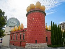 Salvador Dali-Museum in Figueres von Katalonien stockfotos