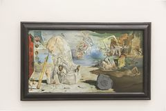 Salvador Dali painting in Pinakothek der Moderne in Munich. Pinakothek of the Modern is a modern art museum, situated in central Munich`s Kunstareal. Locals Royalty Free Stock Image