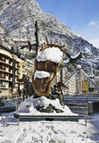 Salvador Dali sculpture, Nobility of Time in Andorra la Vella. Andorra Royalty Free Stock Image