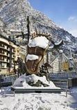Salvador Dali-Skulptur, Adel der Zeit in Andorra-La Vella andorra Lizenzfreies Stockbild