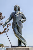 Salvador Dali. Statue in cadaques beach Catalonia, Spain royalty free stock photo