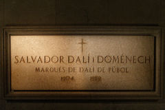 Salvador Dali tomb in Figeras. Royalty Free Stock Images