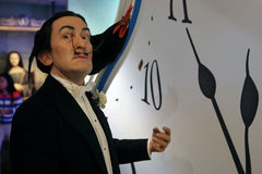 Salvador Dali wax statue. Waxwork statue of Salvador Dali in the Madame Tussauds Museum from Amsterdam, Netherlands royalty free stock image