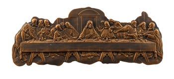 Salvador de bronze do último da imagem, quadros do emplastro imagem de stock