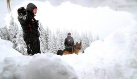 Salvador del servicio de rescate de la montaña Fotografía de archivo