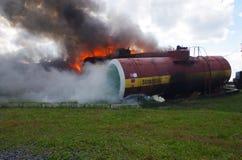 Salvador del trabajo El rescate del fuego elimina el fuego Foto de archivo libre de regalías