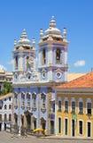 _ Salvador Den blåa kyrkan Arkivfoto