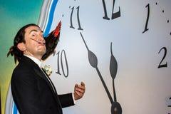 Salvador Dali, wax figure, Madame Tussaud`s Amsterdam. Salvador Domingo Felipe Jacinto Dalí i Domènech, 1st Marquis of Dalí de Púbol, known royalty free stock photos