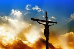 Salvador en la cruz Imagen de archivo libre de regalías