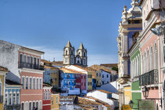 Salvador facades. The historic centre of Salvador, Brazil Stock Images