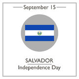 Salvador Independence Day, September 15. Vector illustration for you design, card, banner, poster and calendar Royalty Free Stock Photos