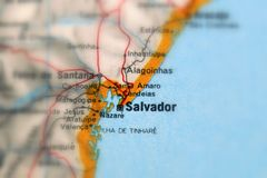 Salvador, miasto w Brasil obrazy royalty free
