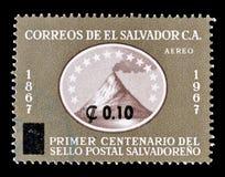 Salvador sui francobolli fotografie stock libere da diritti