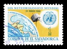 Salvador sui francobolli fotografia stock libera da diritti