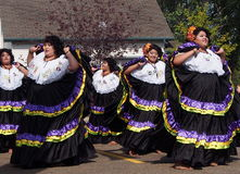 Salvadoran Dancers At Kaleido Festival Edmonton Alberta Royalty Free Stock Images