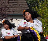 Salvadoran Dancers At Kaleido Festival Edmonton Alberta Royalty Free Stock Photo