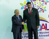 Salvadoran President Salvador Sanchez Ceren and Venezuelan President Nicolas Maduro Royalty Free Stock Photography