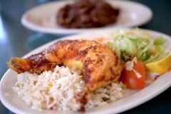 Salvadoranska Fried Chicken Arkivfoto