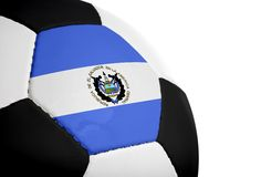 Salvadorian Flag - Football Stock Photos
