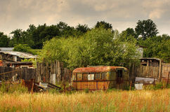 Salvage bus. An old rusty salvage bus Royalty Free Stock Image