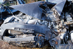 Salvage Car Accident Royalty Free Stock Photos