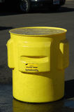 Salvage Drum. A large containment salvage drum with contaminated liquid Royalty Free Stock Photography