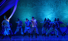 """Salvage at sea-Dance drama """"The Dream of Maritime Silk Road"""". Dance drama """"The Dream of Maritime Silk Road"""" centers on the plot of two stock image"""