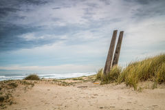 Salvage stand II. Rescue stand at Xago beach royalty free stock photography
