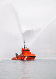 Salvage tugboat on the sea. This photo is taken in Ferrol, Galicia, Spain Royalty Free Stock Image