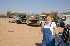 Salvage yard view stock photography