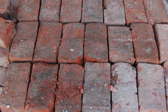 Salvaged bricks Stock Photo