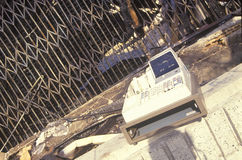 Salvaged cash register after 1992 riots, South Central Los Angeles, California Royalty Free Stock Images