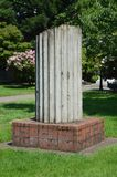 Salvaged Column of Early Capitol Building, Salem, OR. This is a salvaged column from the third capitol building in Salem Oregon.  The present capitol was built Royalty Free Stock Photos