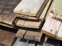Salvaged Old Boards Royalty Free Stock Photography