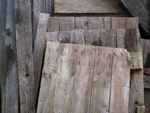 Salvaged Old Wood. Royalty Free Stock Images