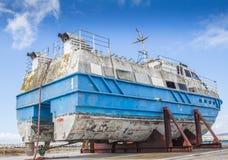 Salvaged stern trawler Stock Photography