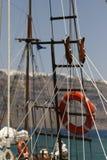 Salvagente & yacht Fotografie Stock