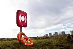 Salvagente rossi Fotografia Stock