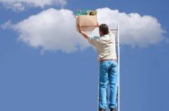Salvaguardia de la nube y concepto del almacenaje Fotos de archivo libres de regalías